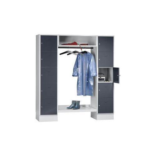 System garderob ze schowkami,10 przedziałów na zewnątrz, 10 wieszaków na ubrania