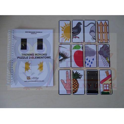 """Kreatywna książka """"trening wzroku- puzzle 2 - elementowe"""" marki Bystra sowa"""