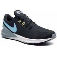 Buty NIKE - Air Zoom Structure 22 AA1636 005 Black/Blue Fury/Aviator Grey