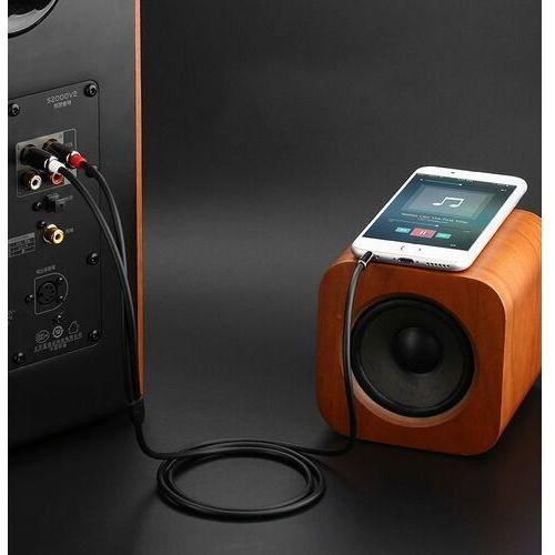 Kabel audio UGREEN 10584 Jack 3,5 mm 2x Cinch 2m kolor czarny- natychmiastowa wysyłka, ponad 4000 punktów odbioru!