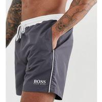 BOSS Star Fish swim shorts in dark grey Exclusive at ASOS - Grey
