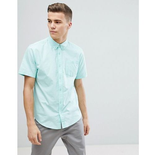 basic oxford short sleeve shirt - green marki D-struct