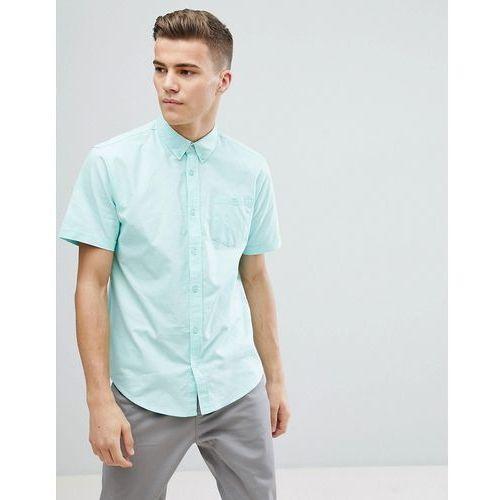 basic oxford short sleeve shirt - green marki D-struct