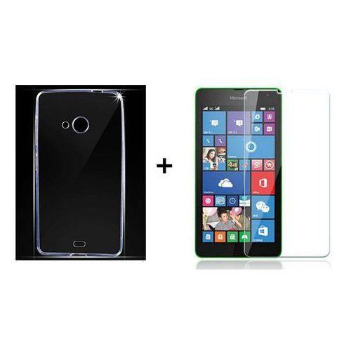 Zestaw Obudowa Ultra Slim + Szkło ochronne Perfect Glass Microsoft Lumia 535
