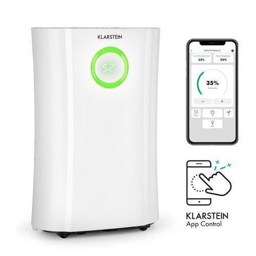 Klarstein dryfy pro connect, osuszacz powietrza, wi-fi, kompresja, 20 l/24 h, 20 m2, 370 w, kolor biały (4060656157998)