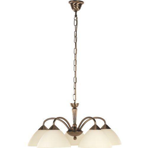 Lampa wisząca Rabalux Regina 5x40W E14 brąz/kremowy 8175, 8175