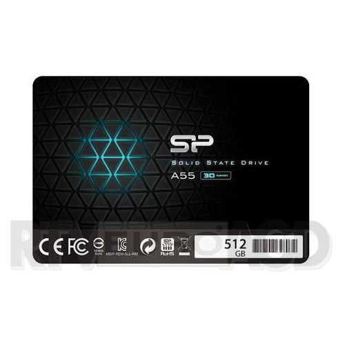 "Dysk SSD Silicon Power A55 512GB 2.5"" SATA3 (560/530) 3D NAND, 7mm, SP512GBSS3A55S25"