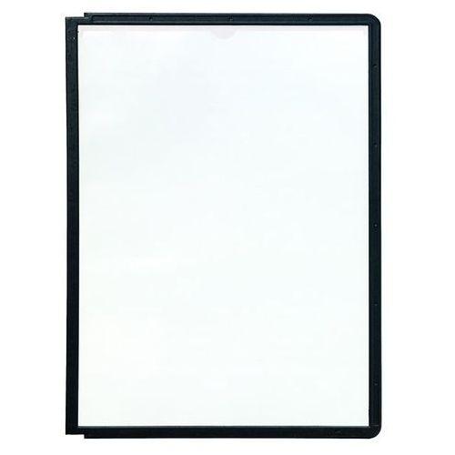 Tablice przezroczyste z ramą profilowaną, do DIN A4, opak. 10 szt., czarny. Do f