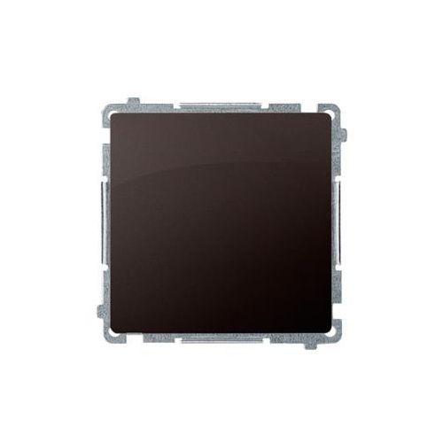 Simon basic przycisk pojedynczy rozwierny bez piktogramu (moduł) 10ax, 250v~, zaciski śrubowe; czekoladowy bmpr1.01/47 wmul-011rp1-5011 marki Kontakt simon