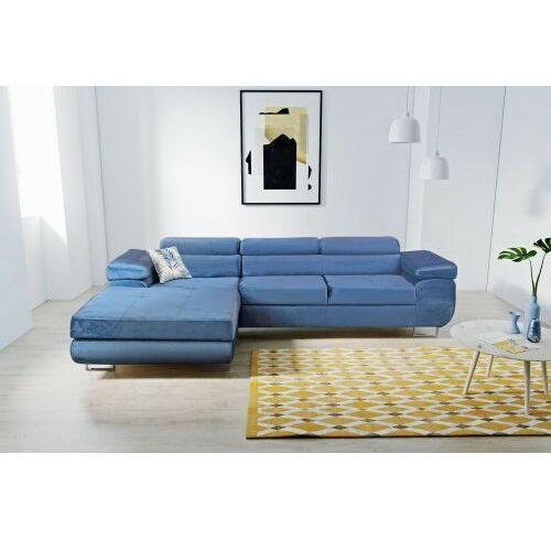 Big meble Sofa narożnik agrigento rozkładana z funkcją spania i pojemnikiem dostawa 0 zł
