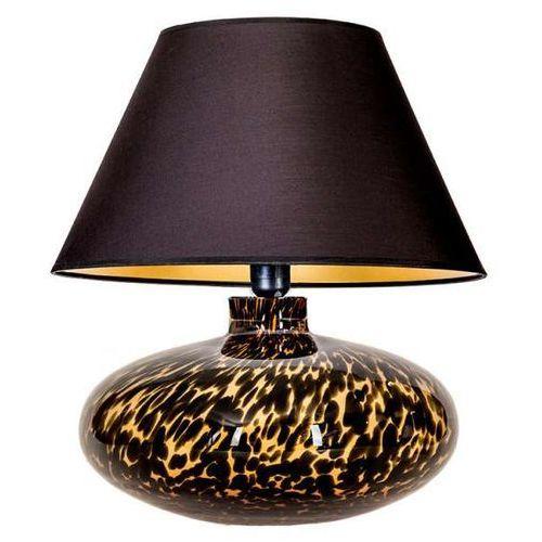 Nocna LAMPKA abażurowa TANZANIA L005092214 4Concepts orientalna LAMPA stojąca do sypialni czarna (5901688144787)