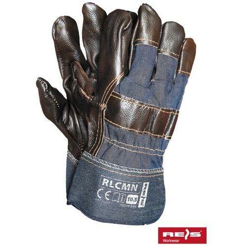 Rękawice robocze wzmacniane skórą licową RLCMN rozmiar 10