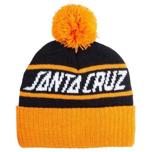 Czapka zimowa - strip stripe beanie black/tangerine (black-tangerine) marki Santa cruz
