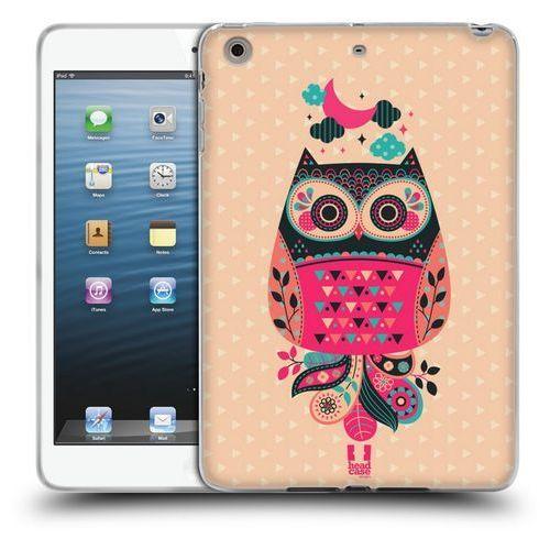 Etui silikonowe na tablet - NIGHTFALL OWLS BLACK AND CORAL, kolor czarny