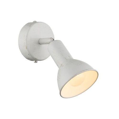Globo CALDERA Reflektor ścienny Biały, 1-punktowy - Ponadczasowy - Obszar wewnętrzny - CALDERA - Czas dostawy: od 3-6 dni roboczych, 54648-1