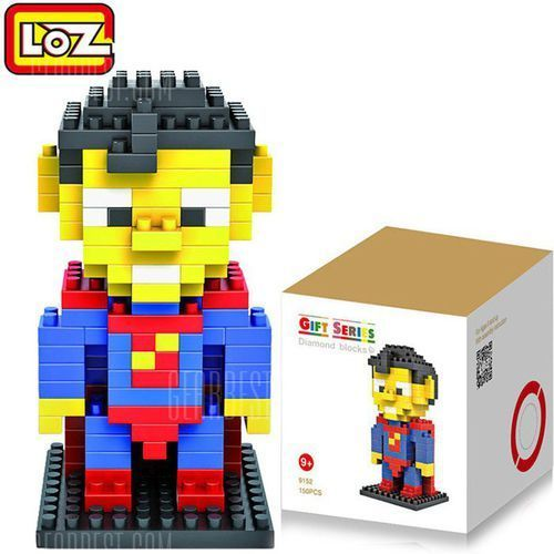 Gearbest Loz 120pcs m - 9152 superman building block educational assembling boy girl gift for spatial thinking