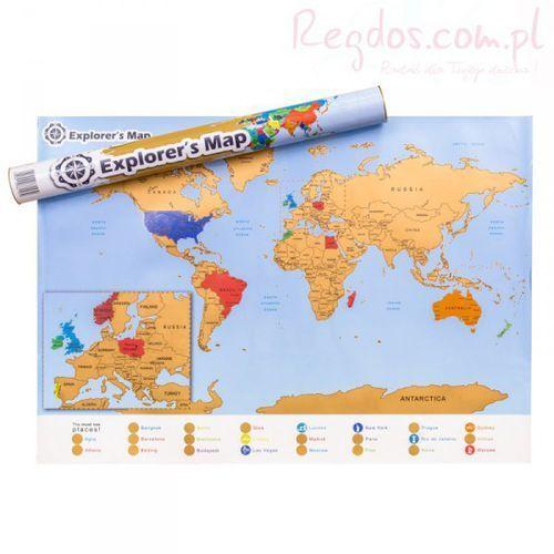 Gadget factory Mapa odkrywcy - świat (en)
