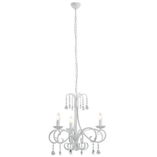 Lampa wisząca świecznikowa z kryształkami Argon Castello 6x40W E14 biała 2515 (5908259942100)