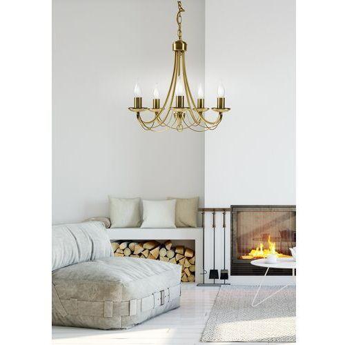 Lampa wisząca Candellux Muza 5x40W E14 patyna 35-69170, kolor Złoty