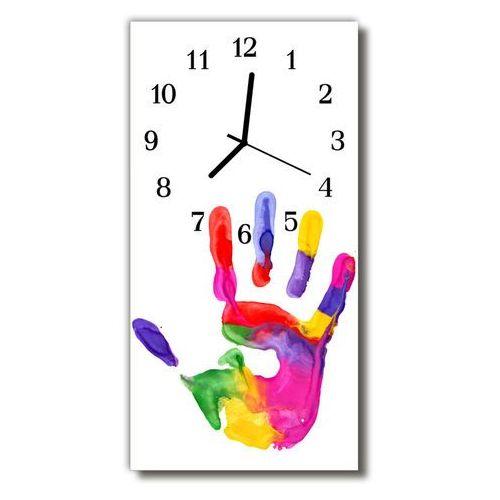Zegar Szklany Pionowy Ręka farba malowany kolorowy, kolor wielokolorowy