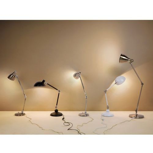 Beliani Lampka nocna - w kolorze niklu - stojąca - żarówka gratis - patoka (7081456416556)