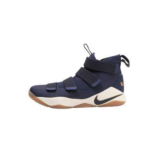Nike Performance LEBRON SOLDIER XI Obuwie do koszykówki midnight navy/metallic gold