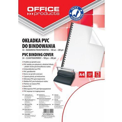 Okładki do bindowania , pvc, a4, 200mikr., 100szt., transparentne marki Office products