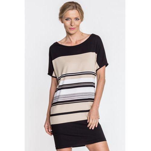 Sukienka w paski - Metafora, kolor czarny