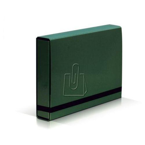 Teczka szeroka  box 341 5cm z gumką - zielona marki Vaupe