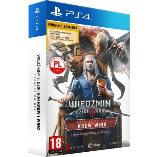 Gra Wiedźmin 3 Dziki Gon Krew i Wino z kategorii: gry PS4