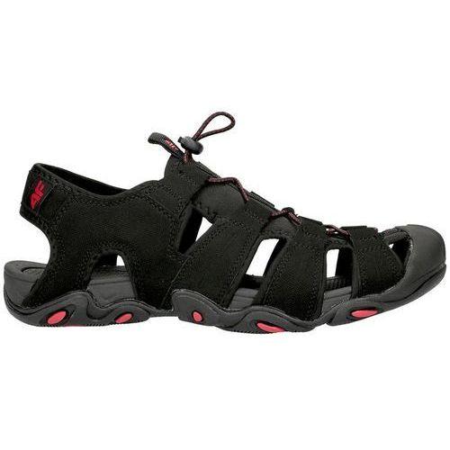 Męskie sandały trekkingowe SAM003 4F - Czarny, w 7 rozmiarach