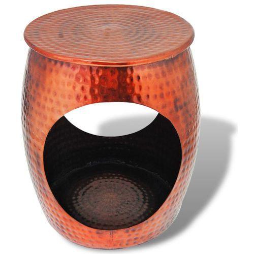 vidaxl taboret/stolik boczny w kształcie beczki, miedź brązowa marki Vidaxl