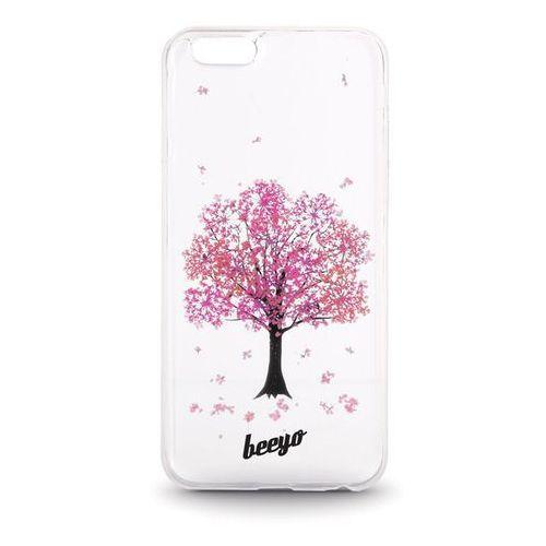 Silikonowa nakładka etui beeyo Blossom do iPhone 6/6s transparentna + różowa (5900495419842)