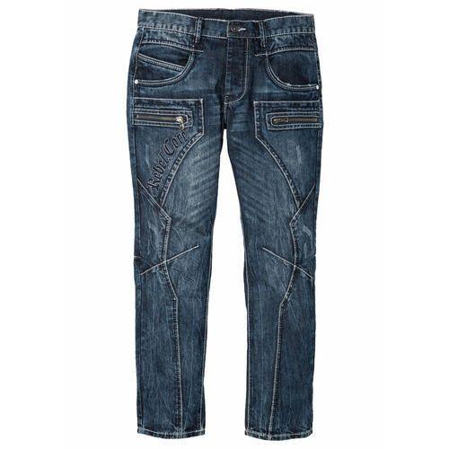 Dżinsy regular fit straight niebieski, Bonprix