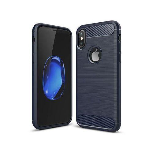 Alogy Etui armor case do apple iphone x granatowe + szkło - granatowy