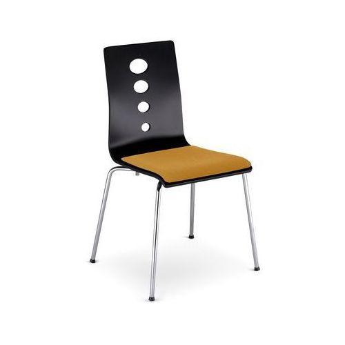Nowy styl Krzesło lantana alu/black seat plus