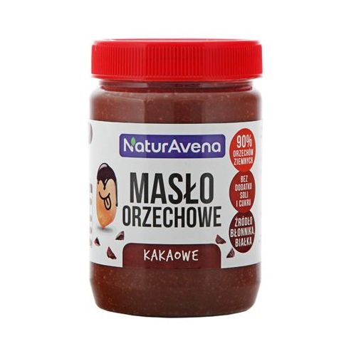 NATURAVENA 510g Naturalne Masło orzechowe kakaowe