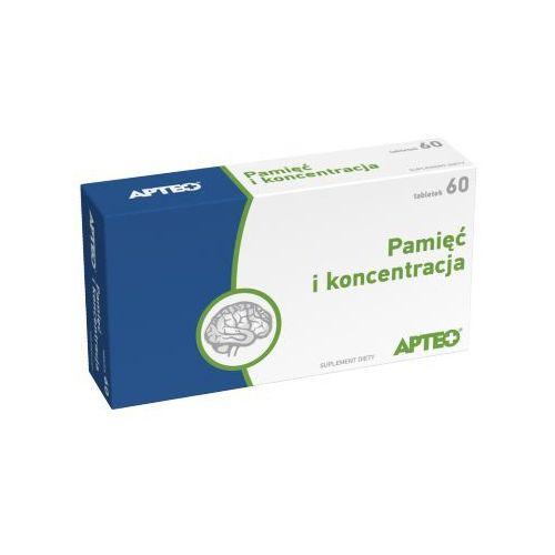 Tabletki PAMIĘĆ I KONCENTRACJA Apteo x 60 tabletek