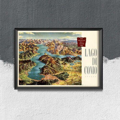 Plakat do pokoju plakat do pokoju lago di como italia przez heinrich berann marki Vintageposteria.pl