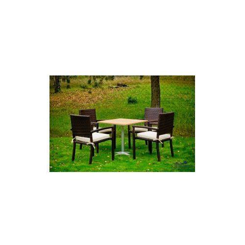 Zestaw mebli stołowych- carino- ciemny brąz marki Pozostali