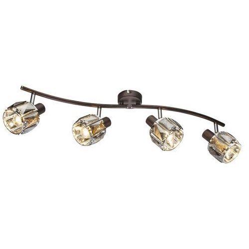 Globo Listwa indiana 54357-4 lampa sufitowa spot 4x40w e14 brązowy (9007371363278)