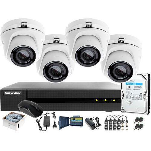 Hikvision hiwatch Utp skrętka monitoring 4mpx hwd-6104mh-g2 4 x hwt-t140-m 1tb samodzielny montaż