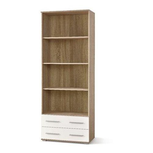 Puno regał 3 dąb sonoma/biały wysoki połsyk marki Style furniture