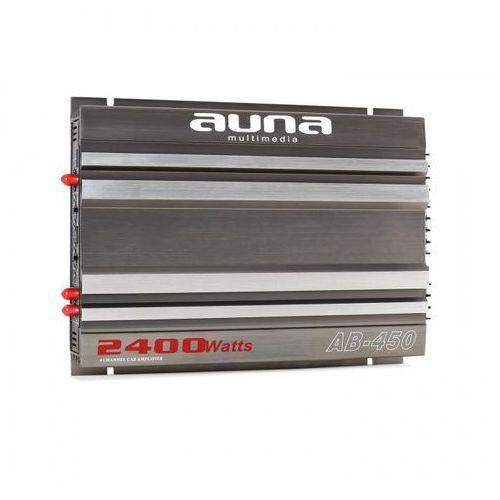 Auna ab-450 4-kanałowy wzmacniacz samochodowy 360w rms 2400w max. racing-design