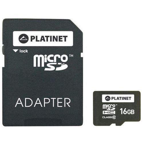 Karta PLATINET 16GB microSD + Adapter + Zamów z DOSTAWĄ JUTRO!