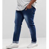 Duke PLUS Tapered Jeans In Vintage Wash - Blue, kolor niebieski