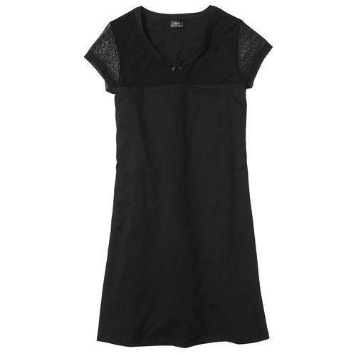 Koszula nocna czarny, Bonprix, S-XXXXL