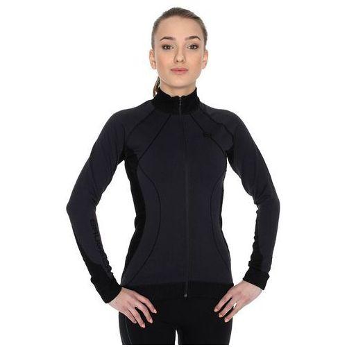 Brubeck Wool Merino LS01380 - damska bluza rozpinana (czarny)