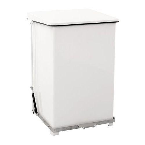 Vepa bins Przemysłowy pojemnik otwierany pedałem, blacha stalowa, kolor biały, ral 9016, p