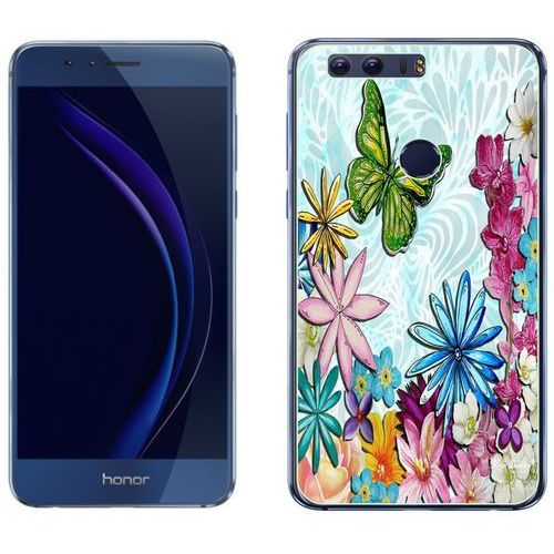 Huawei honor 8 - etui na telefon - kolekcja boho - zielony motyl - j107 marki Zolti